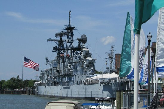 Buffalo & Erie County Naval and Military Park: The Sullivans naval Ship is part of the naval museum