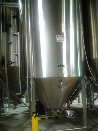 The Maine Brew Bus: vat at Allagash