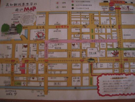 The Crown Plalace Hotel New Hankyu Kochi: 周辺マップ