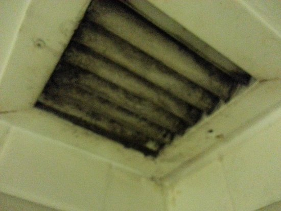 Ramada Lexington North Hotel & Conference Center: Thick mold on the shower ceiling vent