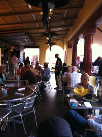 Coyote Cafe and Cantina: Coyote Cantina, three floors up.  Fun and airy on a warm evening.