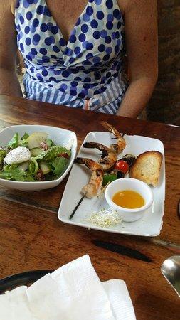 Fusion Bar & Restaurant : Shrimp.  Very good.