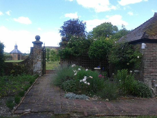 Chettle, UK: The grounds leading to the walled garden of fruit trees.