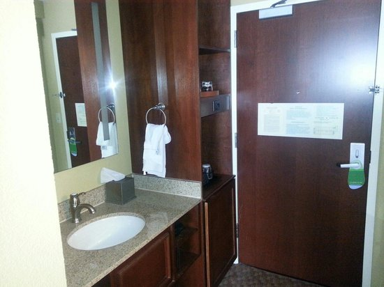 Courtyard by Marriott Boston Logan Airport: King room sink area