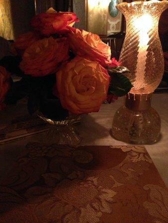 Club del Doge Restaurant: detalhe da mesa