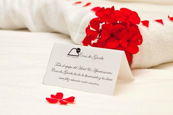 Hotel & Apartamentos Cons da Garda: Detalle bienvenida