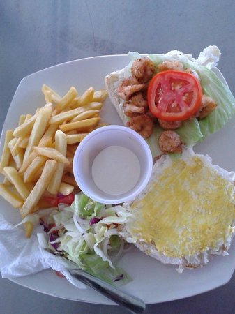 Captain Hook's Shrimp Restaurant & Bar: Shrimp burger
