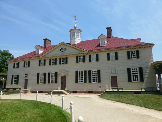 George Washington's Mount Vernon: The back of Mt Vernon as visitors would have entered