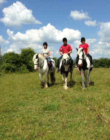 Drumcliffe Equestrian: Riding in the fields.