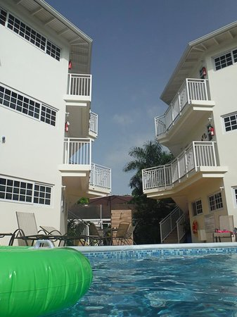 Rondel Village: pool on garden side