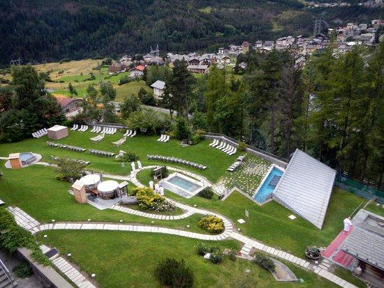 Grand Hotel Bagni Nuovi: Vista sul parco termale dalla camera