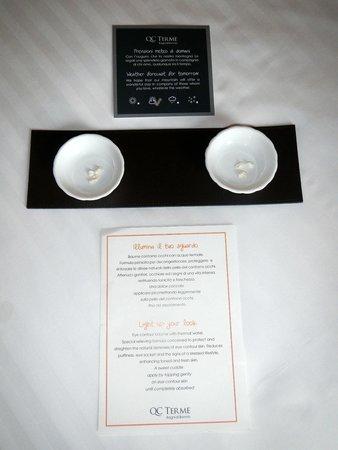 Grand Hotel Bagni Nuovi: Piccola sorpresa: una coccola offerta al rientro dal percorso benessere