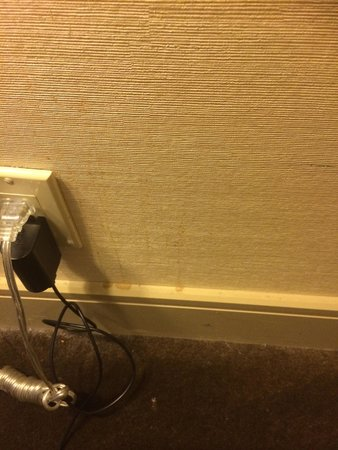 Hilton Anaheim: stains of the wall