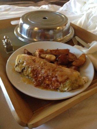 Hotel Andaluz: breakfast burrito room service