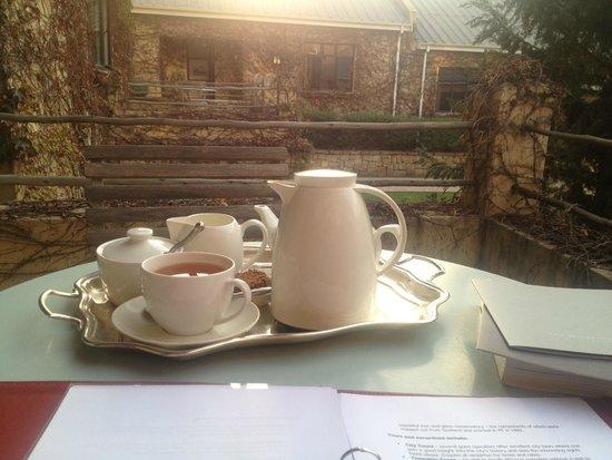 The Windermere by Mantis: tea service on veranda