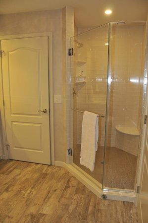 AmishView Inn & Suites: Shower and water closet area separate