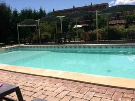Villa Toscana La Mucchia: view of the house from the pool
