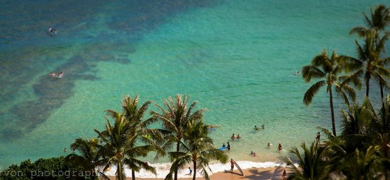 Waikiki Parc Hotel: A slice of paradise. The little slice of Waikiki we could see from rm 1701