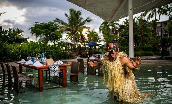 Lomani Wai at the Radisson Blu Resort: Warrior in the water