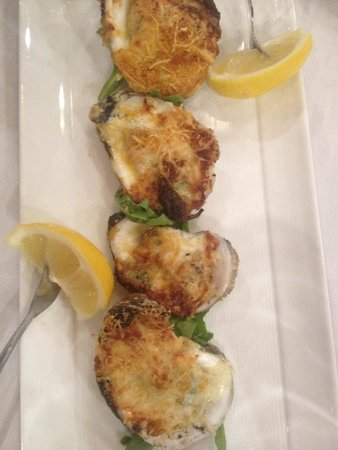 Atlantic Beach Club: Baked oysters. We had two orders of these.