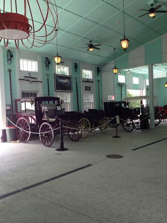 Grand Hotel Stable: Inside the stables -- historical carriages on display.