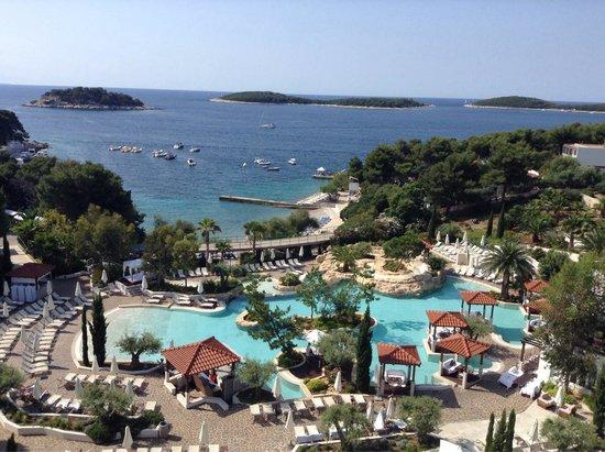 Amfora Hvar Grand Beach Resort: Vista do café da manhã