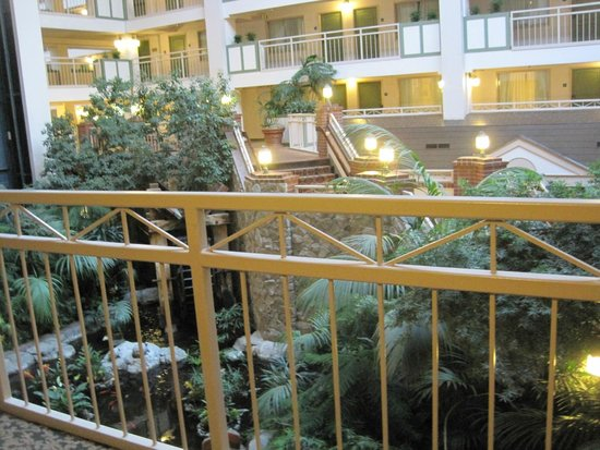 Lake Tahoe Resort Hotel: Outside our room overlooking the atrium
