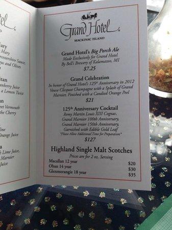 Cupola Bar: $127 cocktail