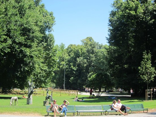 Hotel Manin: The public gardens in fron of the hotel are a great place for a stroll or a jog