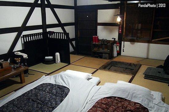 Tsuru no Yu Onsen: After dinner, the futon was already prepared.
