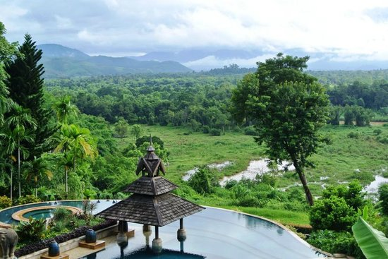 Anantara Golden Triangle Elephant Camp & Resort: View of Elephant grazing grounds