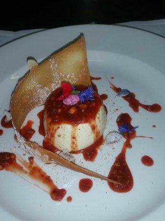 Zucca Rossa: Almond Milk Panna Cotta, Blood Orange Sauce