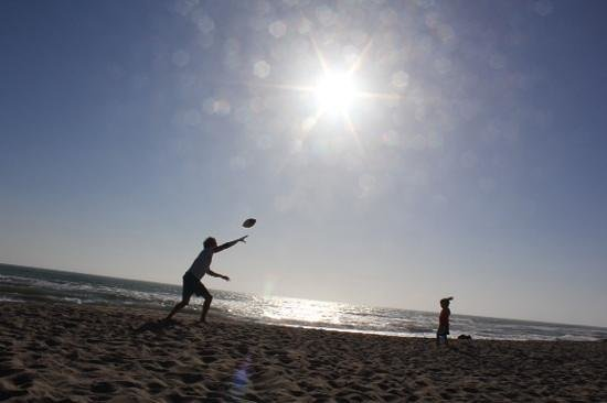 Channel Island Shores: football at the beach