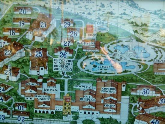 ClubHotel Riu Chiclana: Detalle mapa hotel
