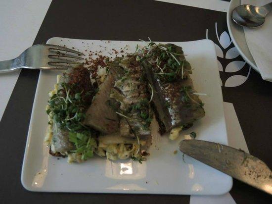 Aamanns Deli : herring open sandwich
