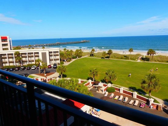 DoubleTree Resort by Hilton Myrtle Beach Oceanfront: Motel Balcony View - Day