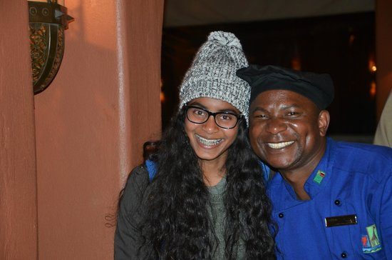 AVANI Victoria Falls Resort: Happy to serve to says Chef Patzon