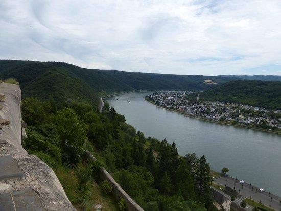 Schloss Marksburg: Rhine Below the Castle