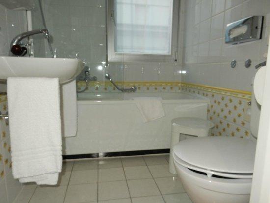Suisse Hotel: 清潔で可愛らしいバスルームでした。
