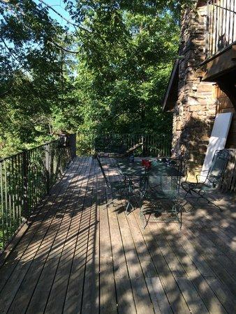 Azalea Falls Lodge & Cabin : View from deck