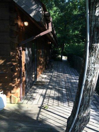 Azalea Falls Lodge & Cabin : other side deck