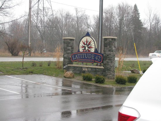 Latitude 42 Brewing Co.: Large sign is easy to find.