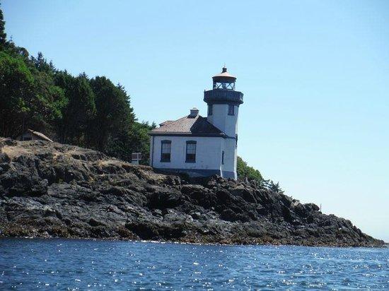 San Juan Kayak Expeditions - Day Tours: Lighthouse on kayak trip