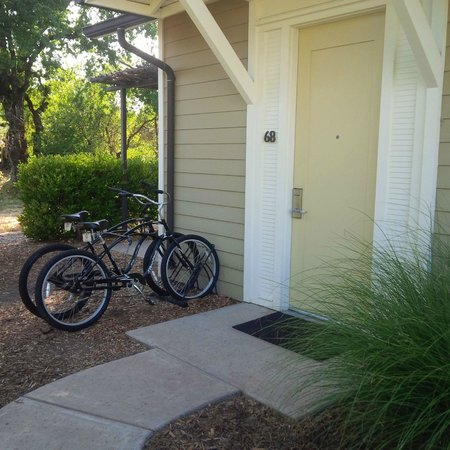 Solage, an Auberge Resort: Our Room and fun bikes