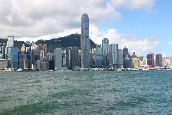 InterContinental Hong Kong: in front of the hotel waterfront side