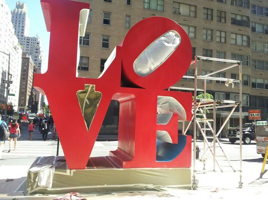 Love Sculpture: They were painting it!