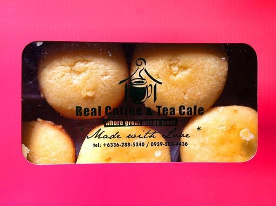 Real Coffee & Tea Cafe: A box of 6 pieces of Calamansi muffins costs P320.00.