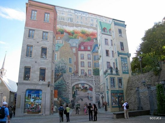 Old Quebec: Mural paintings
