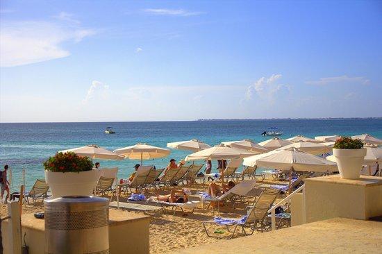 Grand Cayman Marriott Beach Resort : Beach view from pool