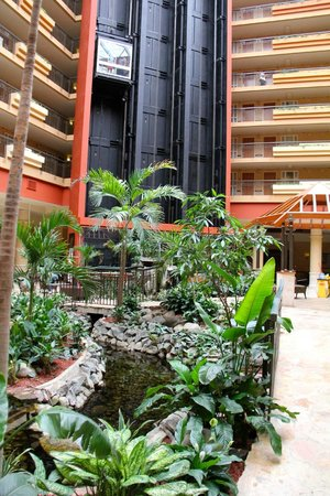Embassy Suites by Hilton San Juan Hotel & Casino: The bank of 3 elevators.
